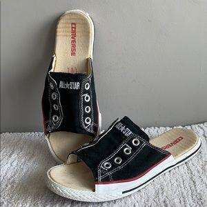 Converse All Star Vintage Slides Black Mens 7 Wo 9